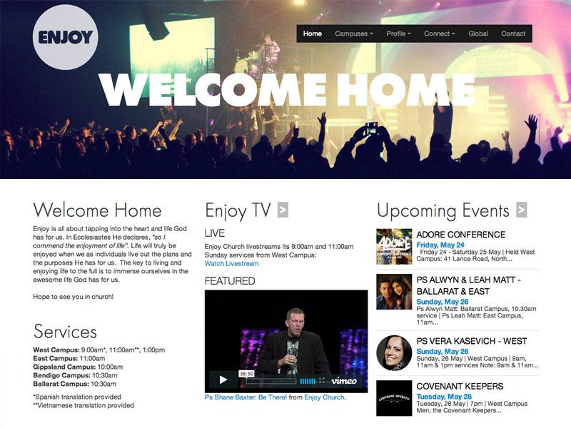 Enjoy Church website
